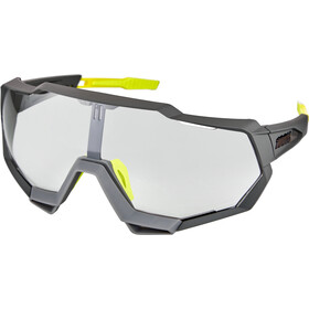 100% Speedtrap Brille soft tact cool grey/photochromic